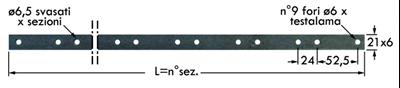 Immagine di Asta Forata per 32 Sezioni (2,35)
