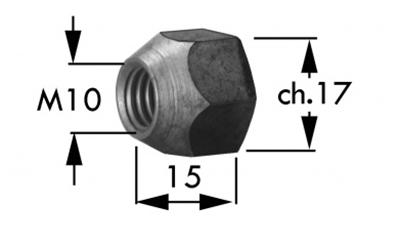 Immagine di Dado Conico per Testalame M10/Ch.17