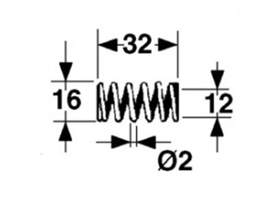 Immagine di MOLLA a COMPRESSIONE L=32 - ø=16 - Filo ø 2