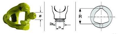 Immagine di Forcella Omocinetico 80° per Crociera da 23,8 x 74,1/82,1 - ø 22