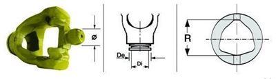 Immagine di Forcella Omocinetico 80° per Crociera da  30,2 x 95,4/101,4 ø 27