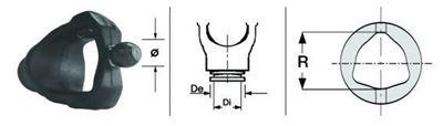Immagine di Forcella Omocinetico per Crociera da 23,8 x 61,3 - ø 18