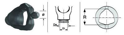 Immagine di Forcella Omocinetico per Crociera da 23,8 x 86,0 - ø 24