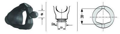 Immagine di Forcella Omocinetico per Crociera da 35,0 x 106,5 - ø 28