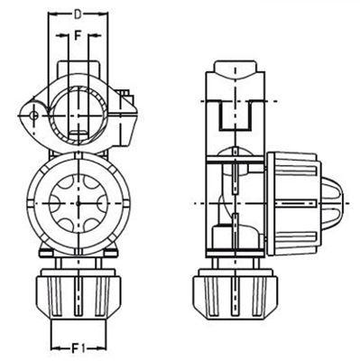 Immagine di Portaugelli singoli UNIJET con foro asta 7mm D 20mm