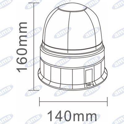 Immagine di Lampeggiante a Led 12/24V Base piana Serie GEA - AMA