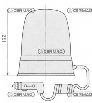 Immagine di Lampada rotante 12/24V Magnetica CERMAG