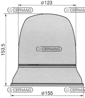 Immagine di Lampada rotante 12 V Magnetica CERMAG