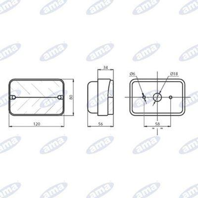 Immagine di Fanale direzione e posizione Dx e Sx 114x76mm - AMA