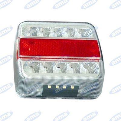 Immagine di Fanale posteriore quadrato a LED con 5 funzioni - AMA