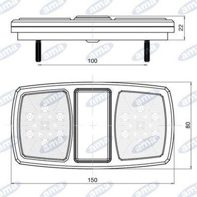 Immagine di Fanale destro posteriore LED 12V - AMA