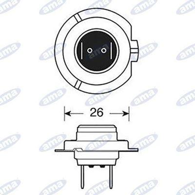 Immagine di Lampada alogena OSRAM H7 12V 55W PX26d - AMA