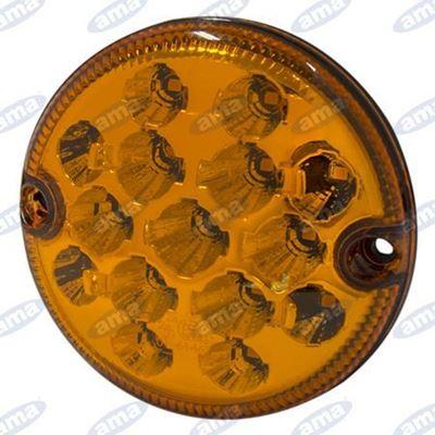 Immagine di Fanale di ingombro a Led con lente ambra Ø 95mm - AMA