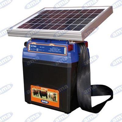 Immagine di Elettrificatore per recinti con alimentazione a pannello solare S750 - AMA