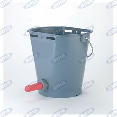 Immagine di Secchio da 8 litri con poppatoio per alimentazione vitelli - AMA