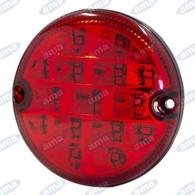 Immagine di Fanale di ingombro a Led con lente rossa Ø 95mm - AMA