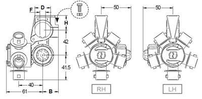 "Immagine di Portaugelli multipli TRIJET foro asta 10 mm - D 1/2"""