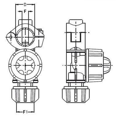 """Immagine di Portaugelli singoli UNIJET con foro asta 10 mm D 1/2"""""""