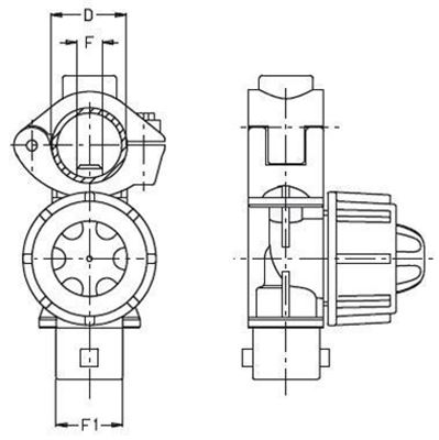 """Immagine di Portaugelli singoli UNIJET ATTACCO RAPIDO foro 7mm D 1/2"""""""