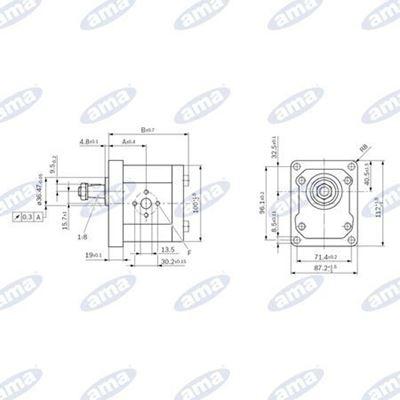 Immagine di Pompa Gruppo 2 BOSCH Destra serie AZPW da 5,5 cc - AMA