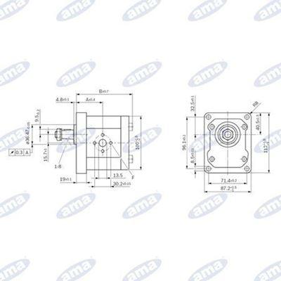 Immagine di Pompa Gruppo 2 BOSCH Sinistra serie AZPW da 8 cc - AMA