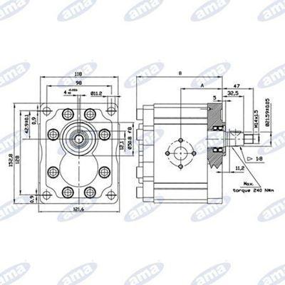 Immagine di Pompa ad ingranaggi Sinistra Gruppo 3 da 53 cc - AMA