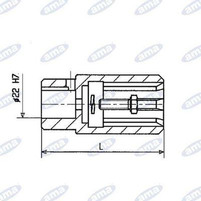 """Immagine di Bussola scanalata 1"""" 3/8 per pompa ad ingranaggi - AMA"""