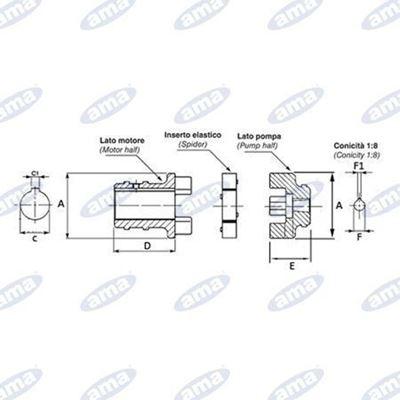 Immagine di Giunto elastico 1,5-2 CV - AMA