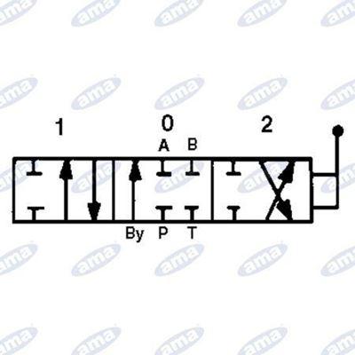 """Immagine di Distributore 3/8"""" a 2 leve doppio effetto da 40 litri - AMA"""