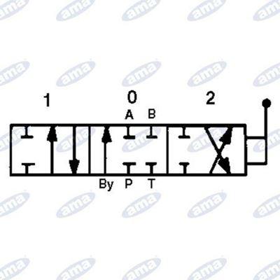 """Immagine di Distributore  3/8"""" a 4 leve doppio effetto da 40 litri - AMA"""