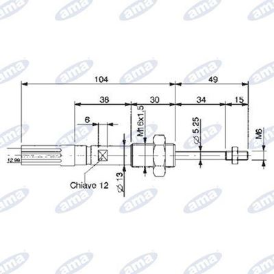 Immagine di Cavo telecomando per distributori L.1250mm - Walvoil
