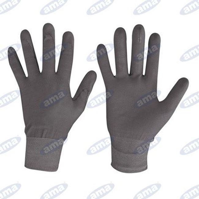 Immagine di Guanto in nylon e poliuretano nero TG 8 M - 24PZ
