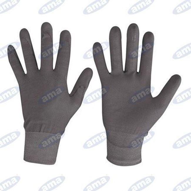 Immagine di Guanto in nylon e poliuretano nero TG 9 L - 24PZ