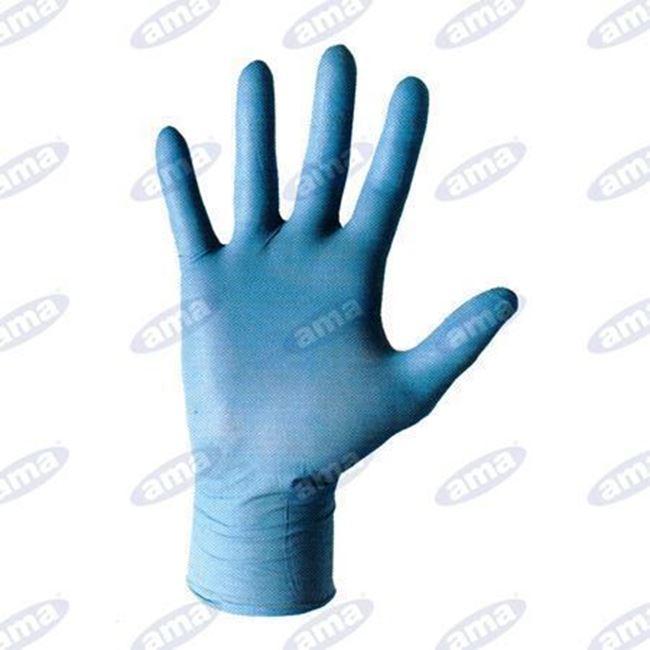 Immagine di Confezione 100pz guanti in nitrile EXTRA resistenti monouso  TG 9 L