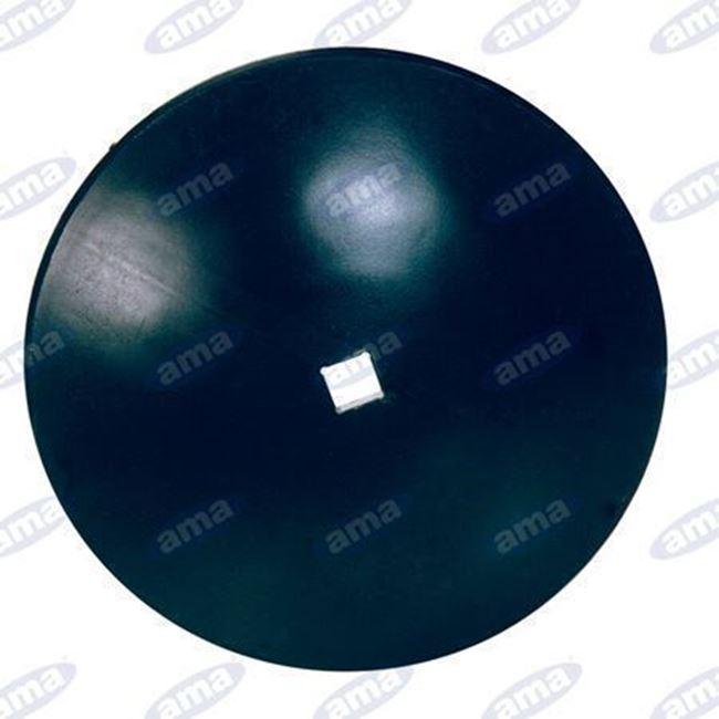 """Immagine di Disco frangizolle LISCIO Ø 560 - 22""""con foro quadrato 26mm R600 - AMA"""