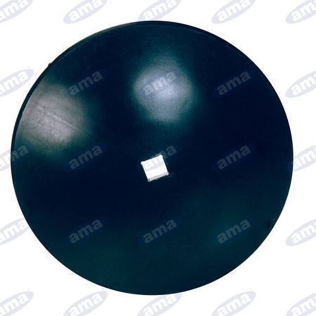 """Immagine di Disco frangizolle LISCIO Ø 610 - 24""""con foro quadrato 33mm R600 - AMA"""