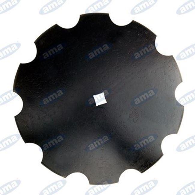 """Immagine di Disco frangizolle DENTATO Ø 610 - 24"""" sp. 6 mm con foro quadrato 33mm R600 - AMA"""