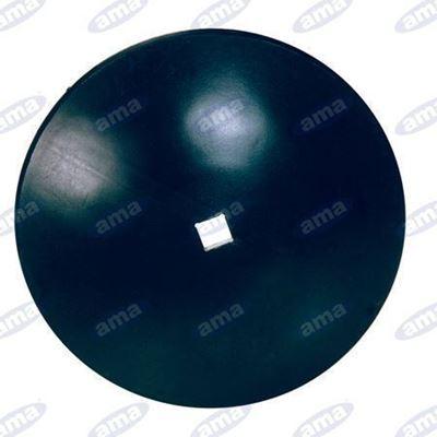 """Immagine di Disco frangizolle LISCIO Ø 710 - 28""""  con foro quadrato 41mm R600 - AMA"""
