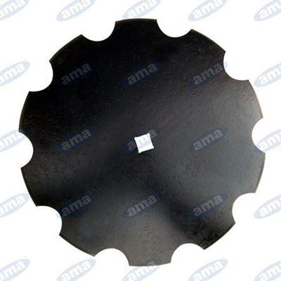 """Immagine di Disco frangizolle DENTATO Ø 710 - 28""""  con foro quadrato 41mm R600 - AMA"""