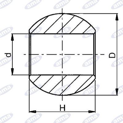 Immagine di Rotula per bracci inferiori  Ø 64X45 foro 28 BLACK LINE - AMA