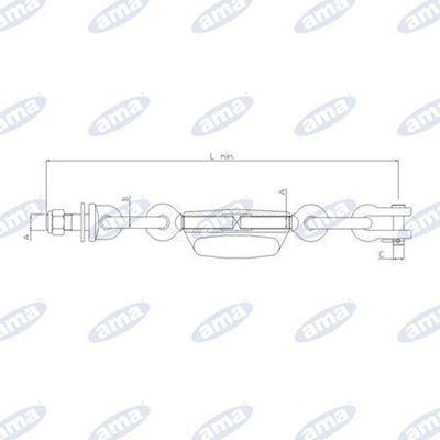 Immagine di Catena imbrigliamento 1+1  adattabile a FIAT 87724774 - AMA