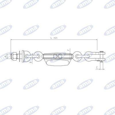 Immagine di Catena imbrigliamento 1+2 maglie adattabile a Fiat 5179842  - AMA