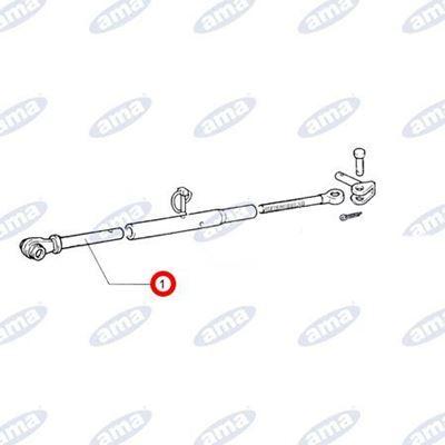 Immagine di Tirante liscio per stabilizzatore laterale adattabile FIAT  5103858 - AMA