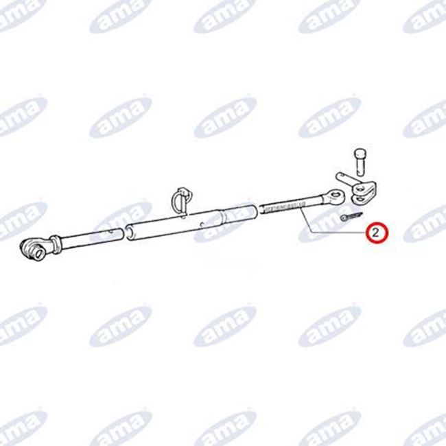 Immagine di Tirante filettato M27x3 destro, adattabile a stabilizzatori laterali FIAT 5103856 - AMA