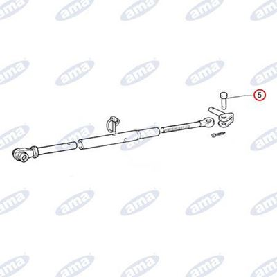 Immagine di Perno Ø20 con battuta per stabilizzatori, adattabile FIAT 5103861 - AMA