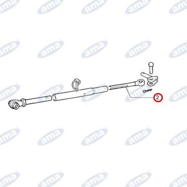 Immagine di Tirante filettato M30x3 destro adattabile a stabilizzatori laterali FIAT 5109487 - AMA