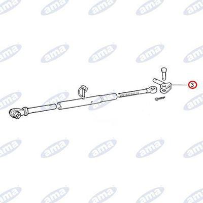 Immagine di Perno braccio inferiore inclinato 90° adattabile a FIAT 5109502 - AMA