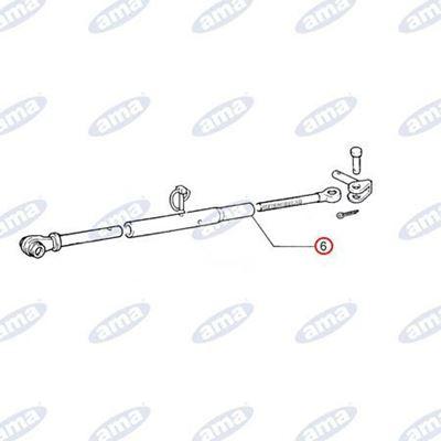 Immagine di Manicotto per stabilizzatore filetto M30x3 adattabile FIAT 5109519 - AMA