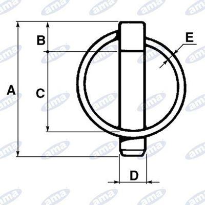 Immagine di Spina a scatto con molla a forma tonda Ø4.5X45mm