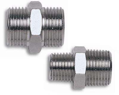 """Immagine di Nipplo cilindrico 1/4""""x1/4"""" - COMEX"""